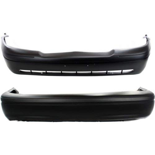 (Bumper Cover Set of 2 Compatible with FORD CROWN VICTORIA 1998-2005 Front and Rear)