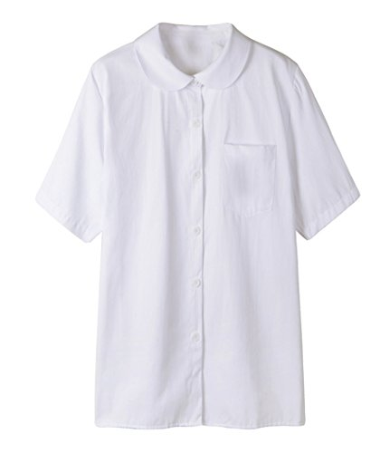 Genetic Girls White Short Sleeve Shirts Pleated Skirts Uniforms Set (Red,2XL) by Genetic Los Angeles (Image #4)