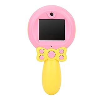 Pokerty Child Camera, 2.0 Inch Screen 1080P HD Child Cute Magic Stick Front Rear Dual Lens Kid Camera(Pink)