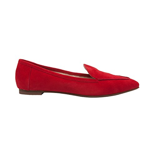 Pic/pay Monica | Pic / Betale Monica | Kvinders Almond Toe Slip-on Comfortable Flat Loafer (new Spring) Red Suede Kvinders Mandel Tå Slip-on Komfortabel Flad Dagdriver (nyt Forår) Rød Ruskind SchDx