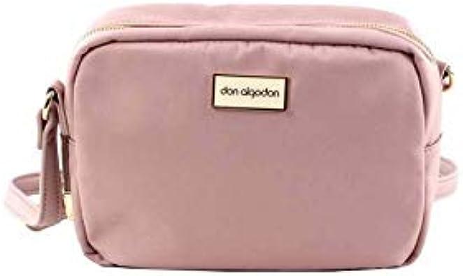 DON ALGODON Bolso bandolera Rosa: Amazon.es: Zapatos y complementos
