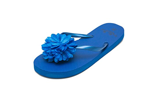 Mujer Airee Azul para para Fairee Chanclas Playa y Piscina Flor Pq50f1w