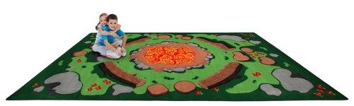 Kid Carpet FE714-34A Campfire Nylon Area Rug, 6' x 8'6'', Multicolored by Kid Carpet