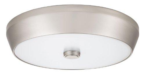 Lithonia Lighting FMDDHL 14 20830 BN M4  15-Inch 3000K LED Deep Pan Flush Mount, Brushed (Nickel Flush Mount Pan)