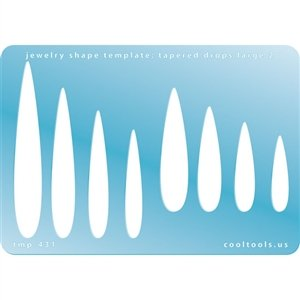 amazon com cool tools jewelry shape template tapered drops large 2