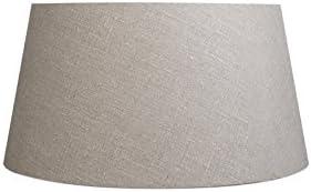 QAZQA Moderno Lino Pantalla lino gris 50/40/26, Redonda/Cónica Pantalla lámpara de pie: Amazon.es: Iluminación