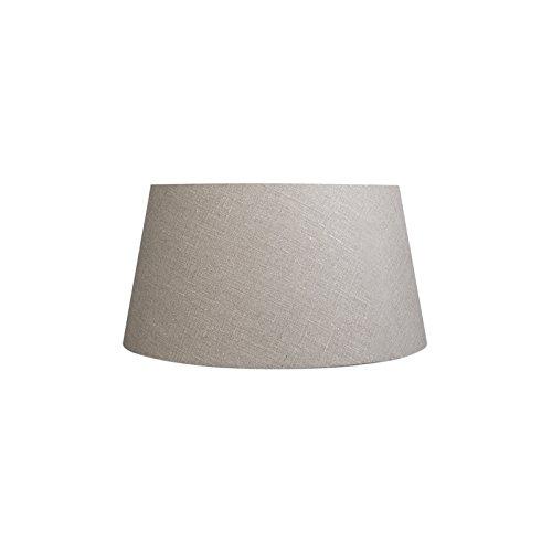 QAZQA Moderno Lino Pantalla de lino gris 50/40/26, Redonda/Cónica Pantalla lámpara de pie