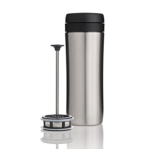 Espro 5012T-BS Travel Coffee Press, 12 oz, Brushed Stainless
