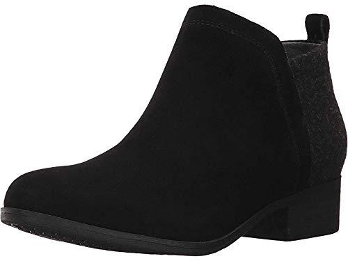 TOMS Women's Deia Bootie Black Suede/Wool 1 7 B US