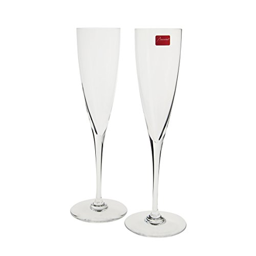 Baccarat Set of 2 Dom Perignon Toasting Flutes by Baccarat