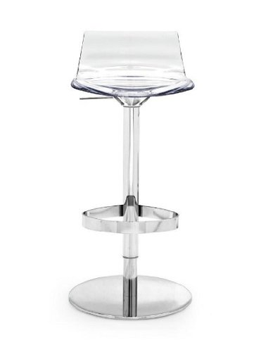 Calligaris sgabello L\'Eau girevole, Cromato - Trasparente: Amazon.it ...