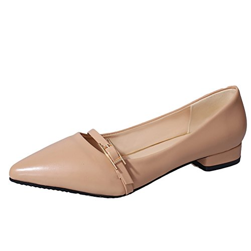 Latasa Womens Pointed-toe Low Heel Pumps Apricot mQHDsKmcv