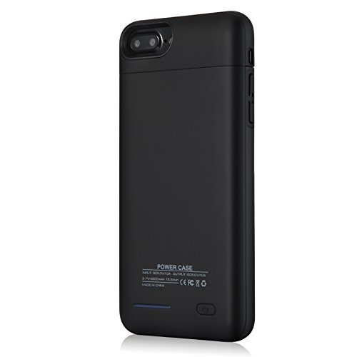 iPhone 8 Plus 7 Plus Battery court case YISHDA thin 4200mAh Rechargeable Extended Battery Charging court case for Apple iPhone 8 Plus iPhone 7 Plus 55 Inch juice Pack Protective power court case Cover Top Piece Detachable Could as Magnetic endure Battery Charger Cases