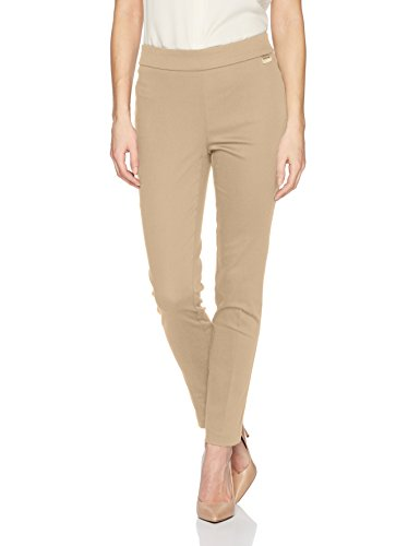 Calvin Klein Women's Cropped Pull On Pant, Latte, L