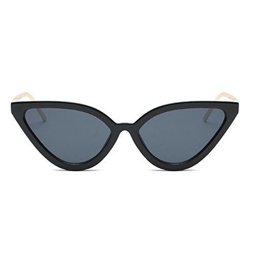 Gafas Grey Gafas Aiweijia Eye sol sol para de Retro mujer Black Gold Gafas Cat de Vintage wXqxrq61d