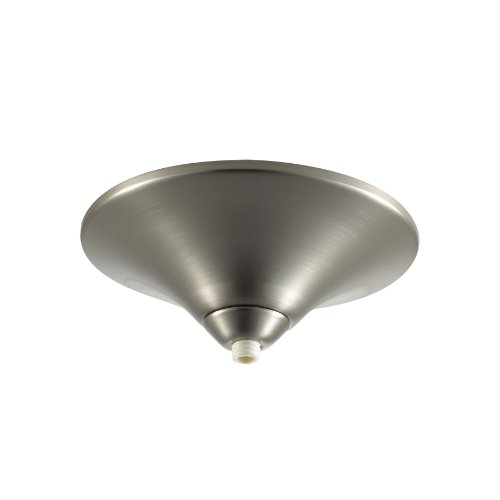 WAC Lighting QMP-60ERN-BN Surface Mount Canopy Metal for Quick Connect Pendants/Fixtures, Brushed Nickel