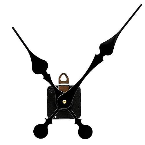 TIKROUND Youngtown 12888 High Torque Long Shaft Clock Movement with 207 mm/ 8.1 Inches Long Spade Hands price tips cheap