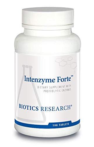 Biotics Research Intenzyme ForteTM - Proteolytic Enzymes, Pancreatin, Bromelain, Papain, Lipase, Amylase, Protein Metabolism, Supports Healthy Digestion, Immune and Circulatory Function 100