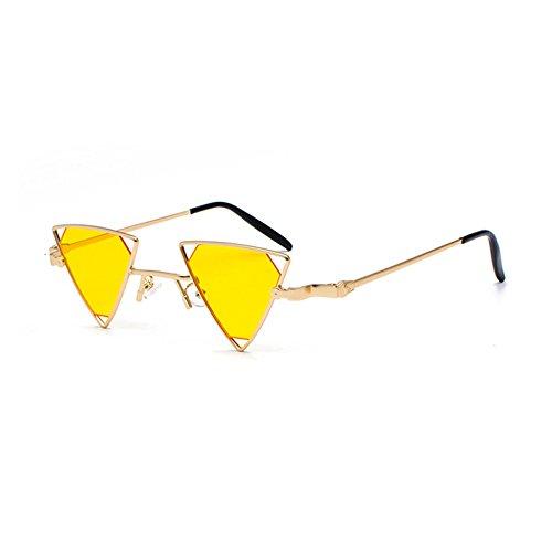 Los C1 KXLEB Rot Schwarz Frauen Metallrahmen Dreieck Gelb Rosa Sonnenbrille Tonos C5 Sonnenbrille Vintage Retro Männer r6grwPT