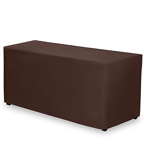 - Gee Di Moda Fitted Tablecloth - 72 x 30 Inch - Chocolate Fitted Rectangle Table Cloth for 6 Foot Table in Washable Polyester - Great for Buffet Table, Parties, Holiday Dinner, Wedding & Trade Show