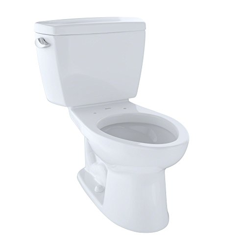 TOTO CST744SL#01 Drake 2-Piece Ada Toilet with Elongated Bowl, Cotton - Toilet Flush Low