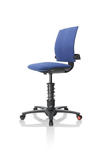 3Dee ergonomischer Bürostuhl/Chefsessel, Bezug: Mikrofaser in Farbe royal-blau, Feder: BASIC in schwarz