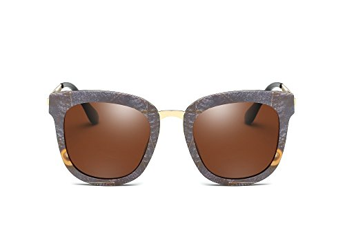 Weidan Retro Hip-Hop Style Hiker Polarized Sunglasses Men & Women Driving Mirror 681 (Stone color frame / brown lenses, - 2018 Sunglasses What Are Style In