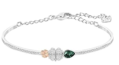 e9b455328 Image Unavailable. Image not available for. Color: Swarovski Duo Clover ...