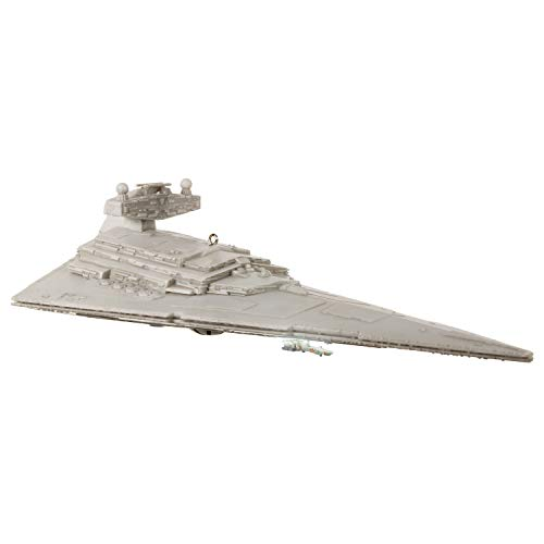 Hallmark Keepsake Christmas 2019 Year Dated Wars Imperial Star Destroyer Ornament with Light and Sound (New Lights 2019 For Christmas)