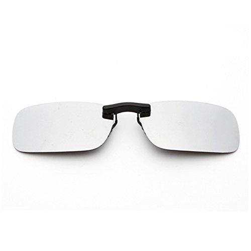 - Clip-on Sunglasses Men's Titanium Flexible Polarized Lenses Glasses Laura Fairy(silver, 55)