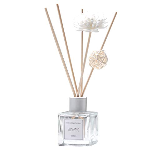 Weite Reed Essential Oil Diffuser Gift Set with Sticks, Lavender,Seas and Oceans,Arabian Jasmine,Cherry Blossoms,Lily and Lotus,Cold Water Aromatherapy Oil for Stress Relief - 50ML (Cherry - Lotus Blossom Lily Water