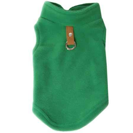 Gooby Dog Fleece Vest – Pullover Dog Jacket with Leash Ring – Winter Small Dog Sweater – Warm Dog Clothes for Small Dogs…