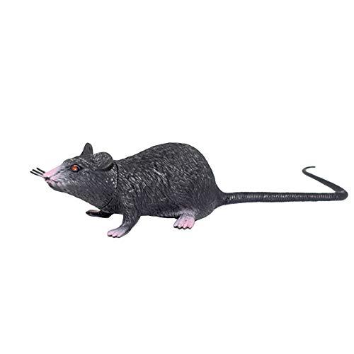 sJIPIIIk552 22cm PVC Simulation Mice Model Kids Toy Gift Halloween Party Tricky Prank Props Black]()