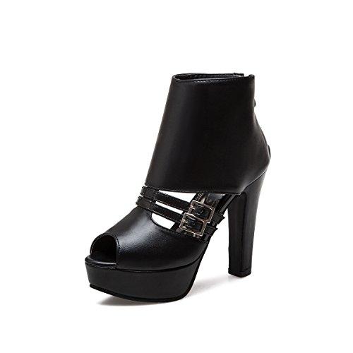 Zapatos Trasera Oto Sandalias o Verano Artificial de 2018 Cremallera Mujer PU Despu Primavera con rqgSr