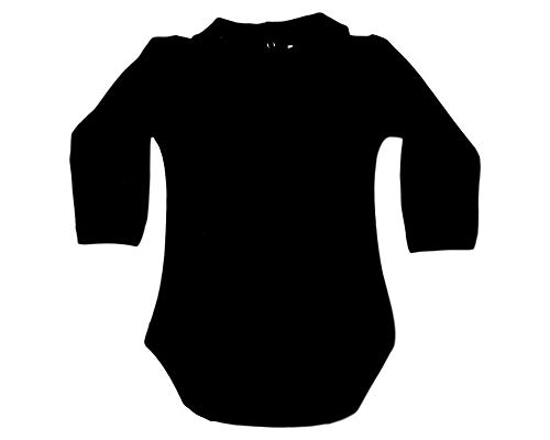 (CARLINO Peter Pan Collared Bodysuit - Long Sleeve, Extra Soft, 6 Colors Available (12-18 Months,)