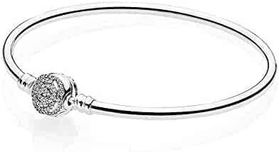3510a0e3f Pandora Disney Moments Beauty & the Beast Silver Bangle Bracelet 590748CZ21