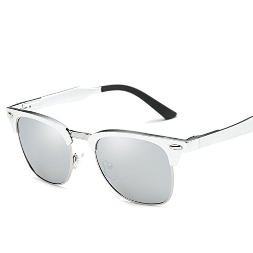 Mens Womens Polarized Sunglasses Magaluma Alloy Half Frame Semi-Rimless Wayfarer UV400 Sun Glasses, - Sunglasses Alloy