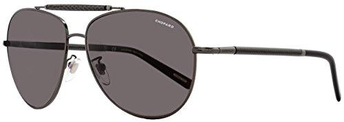 Chopard Aviator Sunglasses SCHB36 568P Shiny Bakelite Polarized - Sunglasses Bakelite