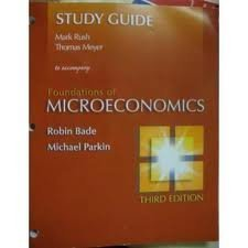 Foundations of Microeconomics (Study Guide)