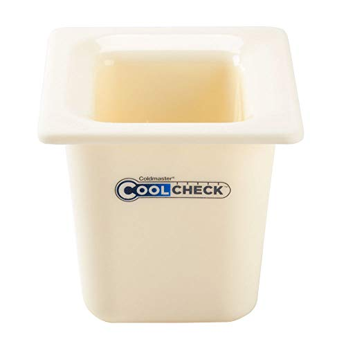 TableTop King CM1104C1402 Coldmaster CoolCheck 1/6 Size White Cold Food Pan - 6