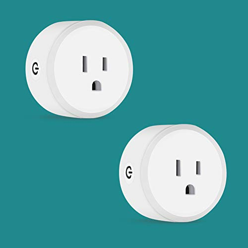 DELIXI Smart Plug Outlet Timer Wi-Fi Plug Compatible with Alexa Google Home IFTTT, 2Pack