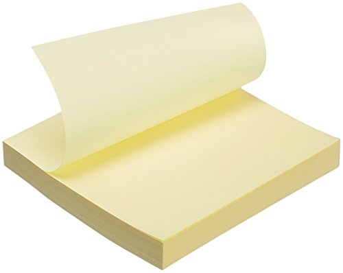 "AmazonBasics Sticky Notes - 3"" x 3"", Yellow - 12-Pack"