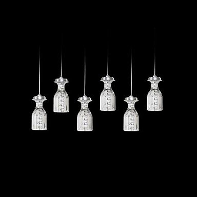 quan Acrylic Modern LED Pendant Light With 6 Lights
