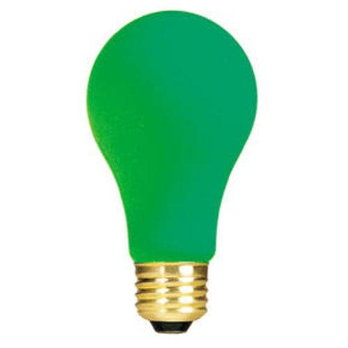 Bulbrite 106425 25W Ceramic Green A19 Bulb -