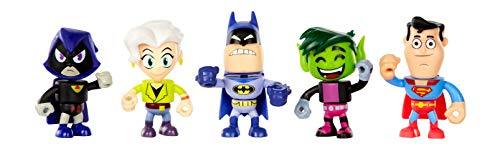Teen Titans Go! to The Movies Mini Figures 5-Pack- Batman, Jade, Wilson, Beast Boy, Superman, & Raven ()