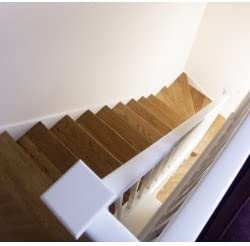 Kit de revestimiento de escalera recta en madera de roble, 12 peldaños: Amazon.es: Hogar