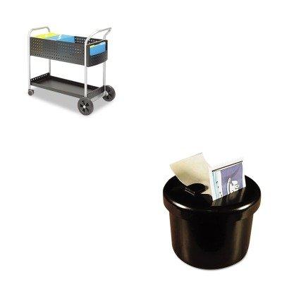 KITLEE40100SAF5239BL - Value Kit - Safco Scoot Mail Cart (SAF5239BL) and Lee Ultimate Stamp Dispenser (LEE40100) by Safco