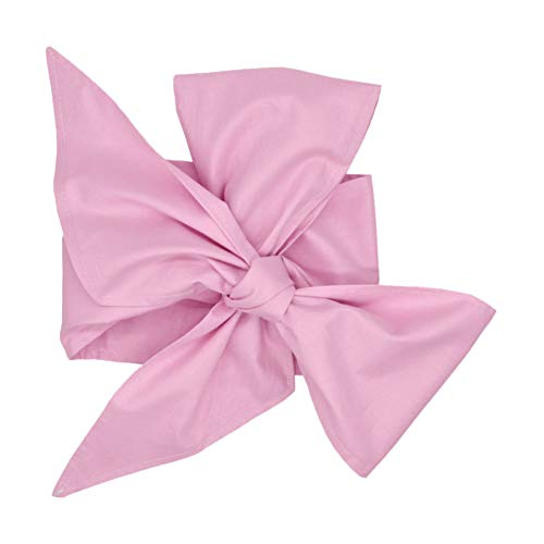 lightclub Plaid Stripe Cotton Bowknot Decor Sash for Newborn Baby Wrap Blanket Swaddle Light Pink