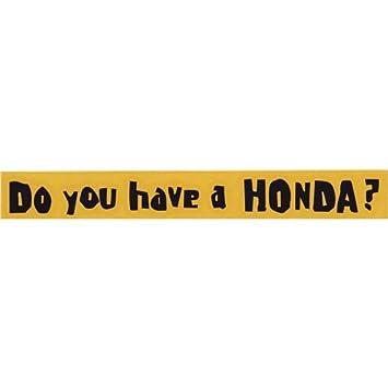 amazon do you have a honda 抜き文字ステッカー 横型 ブラック j s