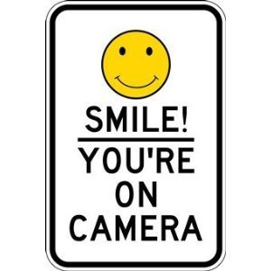 Amazon Com Smile You Re On Camera Sign 12x18 Yard